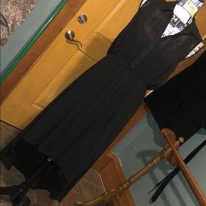 Torrid high low semi sheer black dress size 0